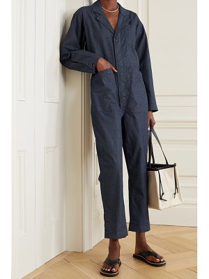 ALEX MILL standard cropped cotton-blend chambray jumpsuit