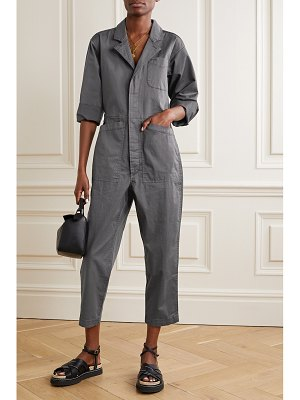 ALEX MILL standard cropped cotton-blend twill jumpsuit