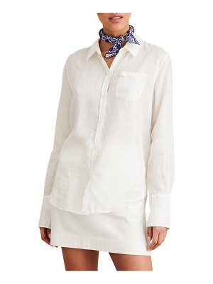 ALEX MILL standard linen button-up shirt