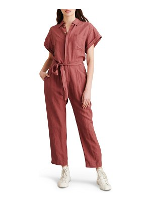 ALEX MILL tie waist crop jumpsuit