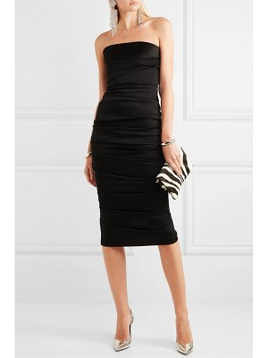 Alex Perry ace strapless ruched satin dress
