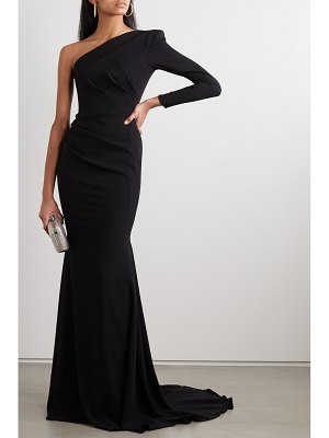Alex Perry alden one-shoulder gathered crepe gown