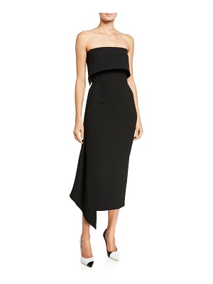 Alex Perry Alexander Strapless Asymmetric Dress