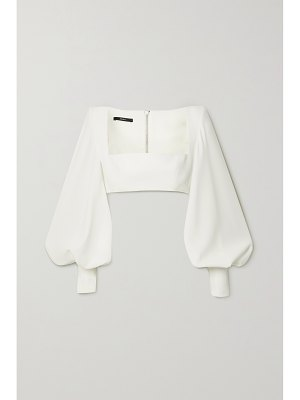 Alex Perry arlo cropped satin-crepe top