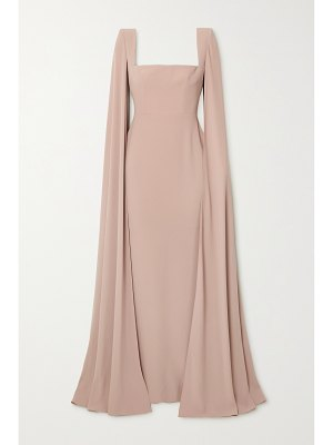 Alex Perry auden cape-effect satin-crepe gown