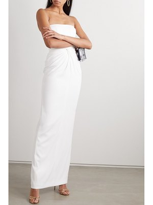 Alex Perry brooklyn strapless twist-front satin-crepe gown
