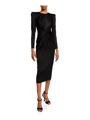 Alex Perry Darden Twisted Velvet Midi Dress