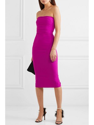 Alex Perry dylan strapless ruched crepe dress