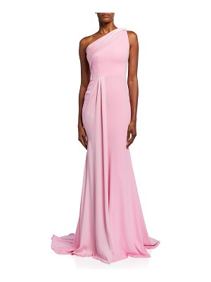Alex Perry Hollis One-Shoulder Satin Gown