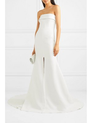 Alex Perry jamie strapless satin-crepe gown