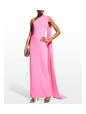 Alex Perry Jude Draped One-Shoulder Column Gown