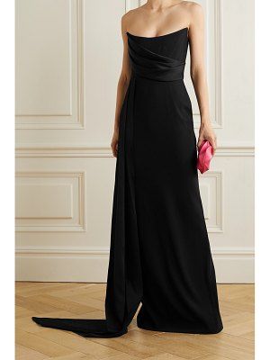 Alex Perry kirby strapless draped satin-crepe gown