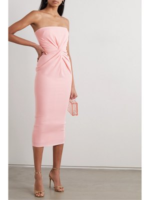 Alex Perry lindsey strapless gathered crepe midi dress