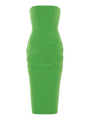Alex Perry mena stretch-crêpe midi dress