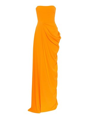 Alex Perry reed strapless crêpe gown