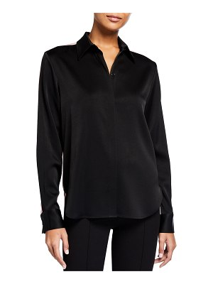 Alex Perry Rowan Two-Tone Satin Crepe Shirt