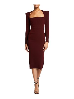 Alex Perry Ruby Crepe Midi Dress