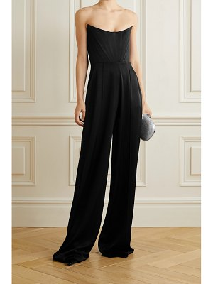 Alex Perry slaine strapless satin-crepe jumpsuit