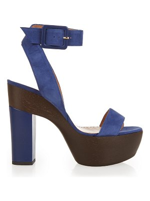 Alexa Wagner Suede and leather platform sandals