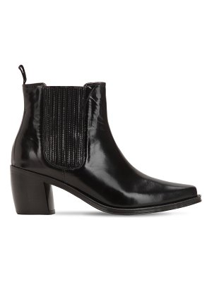 ALEXACHUNG 70mm leather ankle boots
