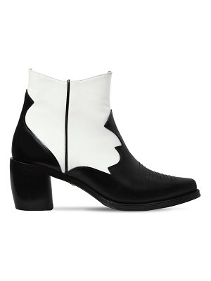 ALEXACHUNG 70mm leather ankle cowboy boots