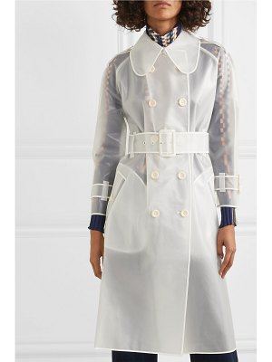 ALEXACHUNG belted rubberized pu trench coat