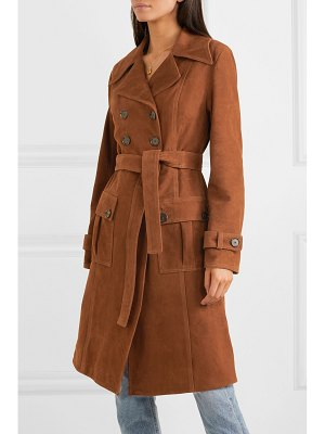 ALEXACHUNG belted suede coat