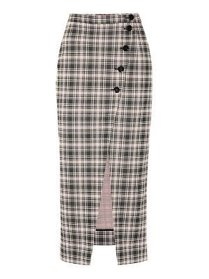 ALEXACHUNG Checked midi skirt