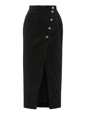 ALEXACHUNG cotton-blend corduroy midi skirt
