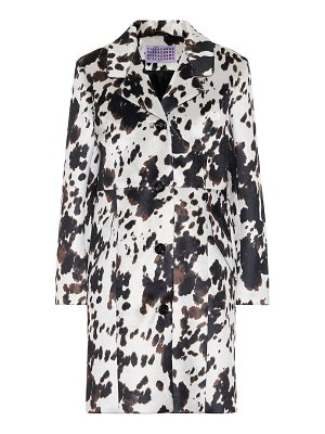 ALEXACHUNG faux calf hair coat