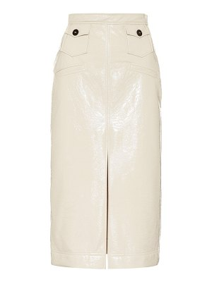 ALEXACHUNG faux leather pencil skirt