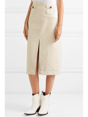 ALEXACHUNG faux patent-leather pencil skirt