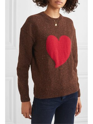 ALEXACHUNG heart intarsia wool-blend sweater