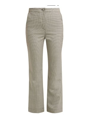 ALEXACHUNG Houndstooth wool-blend trousers