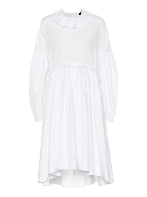 ALEXACHUNG Long-sleeved cotton dress