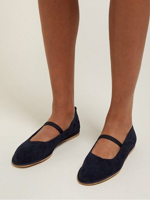 ALEXACHUNG mary jane suede ballet flats