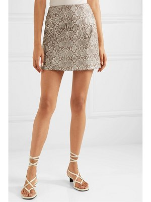 ALEXACHUNG snake-effect faux leather mini skirt