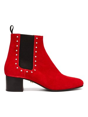 ALEXACHUNG Stud-embellished suede chelsea boots