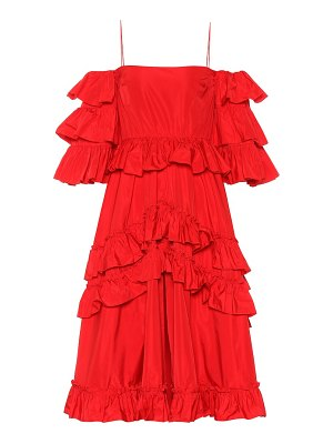 ALEXACHUNG Taffeta ruffled dress