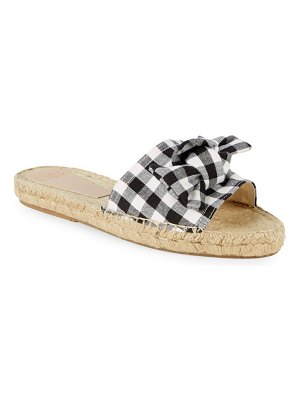 ALEX+ALEX Gingham Slip-On Espadrille Sandals