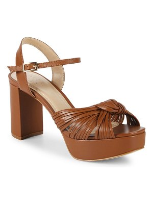 ALEX+ALEX Knotted Leather Platform Sandals