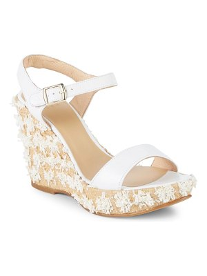 ALEX+ALEX Raffia Suede Wedge Sandals