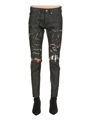 ALEXANDER DIGENOVA Rock skinny destroyed denim jeans