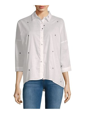Alexander Jordan Hi-Lo Cotton Button-Down Shirt