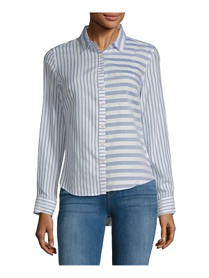 Alexander Jordan Mixed Stripe Button-Down Shirt