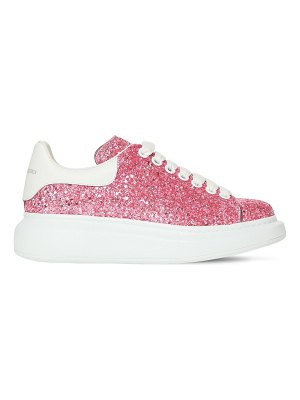 Alexander McQueen 40mm glittered leather sneakers