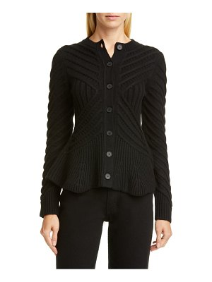 Alexander McQueen angled cable cardigan
