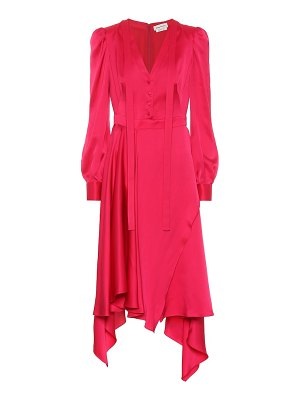 Alexander McQueen asymmetrical silk-satin dress