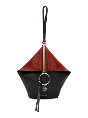 Alexander McQueen black and red butterfly clutch