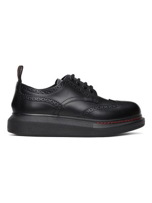 Alexander McQueen black leather derbys